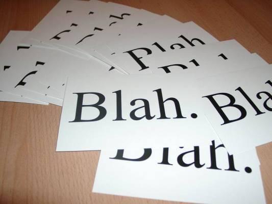 Bruker du kanskje ett og annet ord litt for mye? (Fyllord)